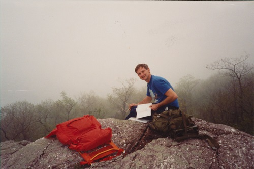 Bruce Van Hine hiking the Appalachian Trail, September 2002. Gift of the Van Hine Family.