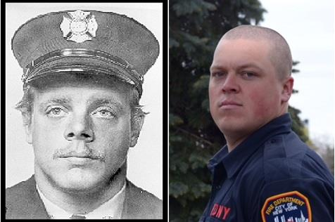 The late Firefighter Harry S. Ford and his son Harry Ford Jr.