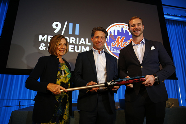 Mets Rookie Sensation Pete Alonso Donates 9/11 Tribute Cleats To 9/11 Memorial & Museum | National September 11 Memorial & Museum