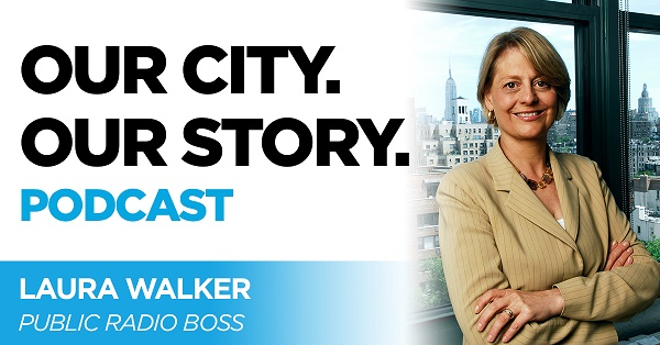 "Navigate to ""Public Radio Boss: Laura Walker"" on OUR CITY. OUR STORY. page"