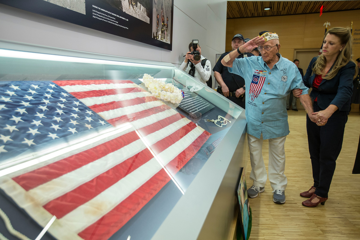 Navigate to Pearl Harbor Survivor Honored in Visit to 9/11 Memorial & Museum  page