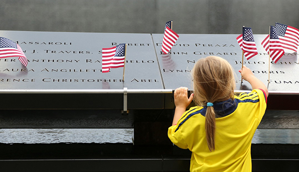 Navigate to Place a Flag on the 9/11 Memorial on Fourth of July page