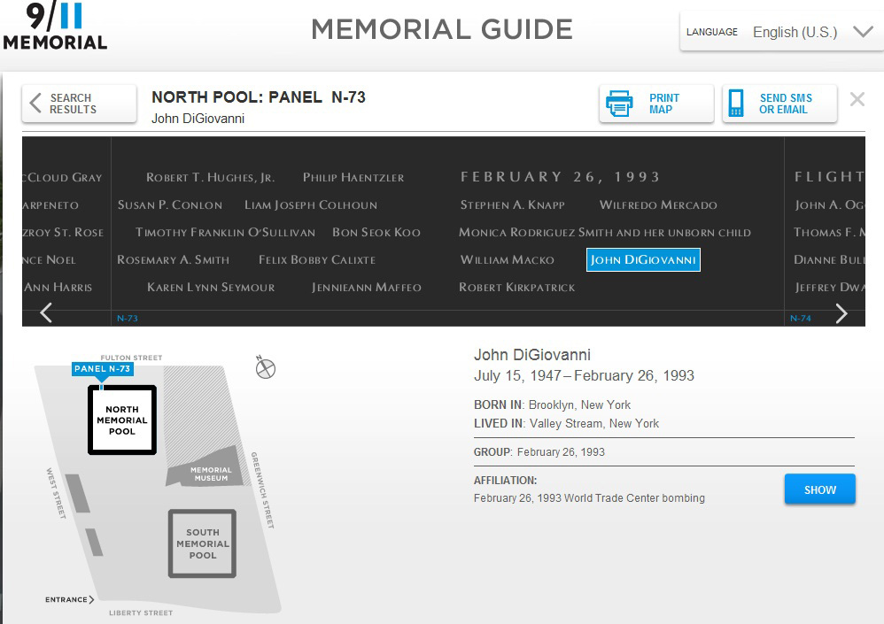 Navigate to 9/11 Memorial Guide Nominated for 'Webby Award' page