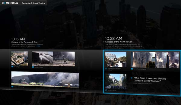 Navigate to Explore Never-Before-Seen Content on Interactive Sept. 11 Timeline (UPDATE X6) page