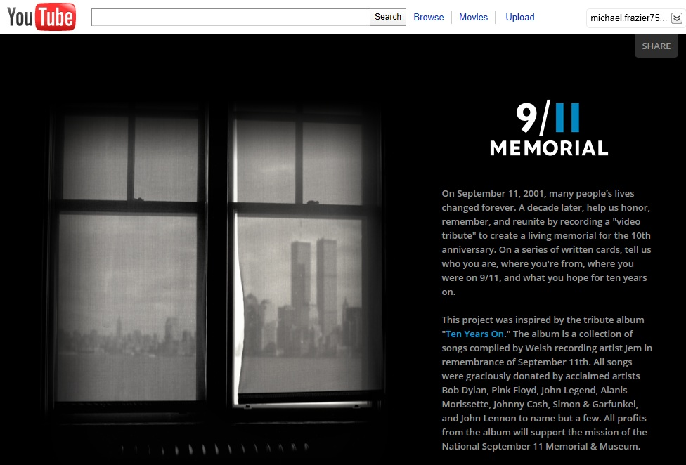 Navigate to 9/11 Memorial is Looking for Your Tribute Videos page