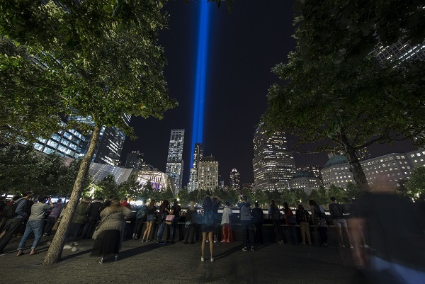 Navigate to Photos from the 2017 September 11 Commemoration and Tribute in Light page