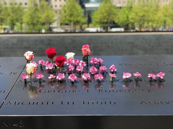 Navigate to Leaving Tributes at the 9/11 Memorial Glade page
