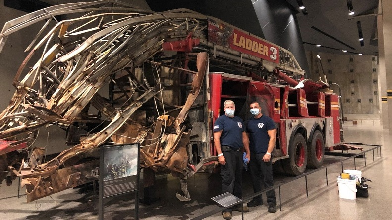 Navigate to Conservation Efforts for Emergency Vehicles in the 9/11 Memorial Museum page