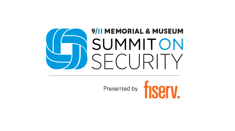 This logo says 911 Memorial Museum Summit on Security presented by Fiserv.