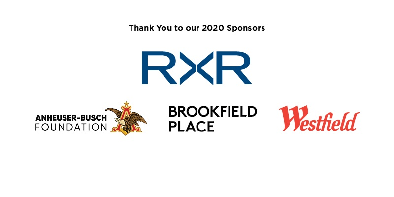 A graphic lists the 2020 sponsors of the 5K Run/Walk & Community Day.