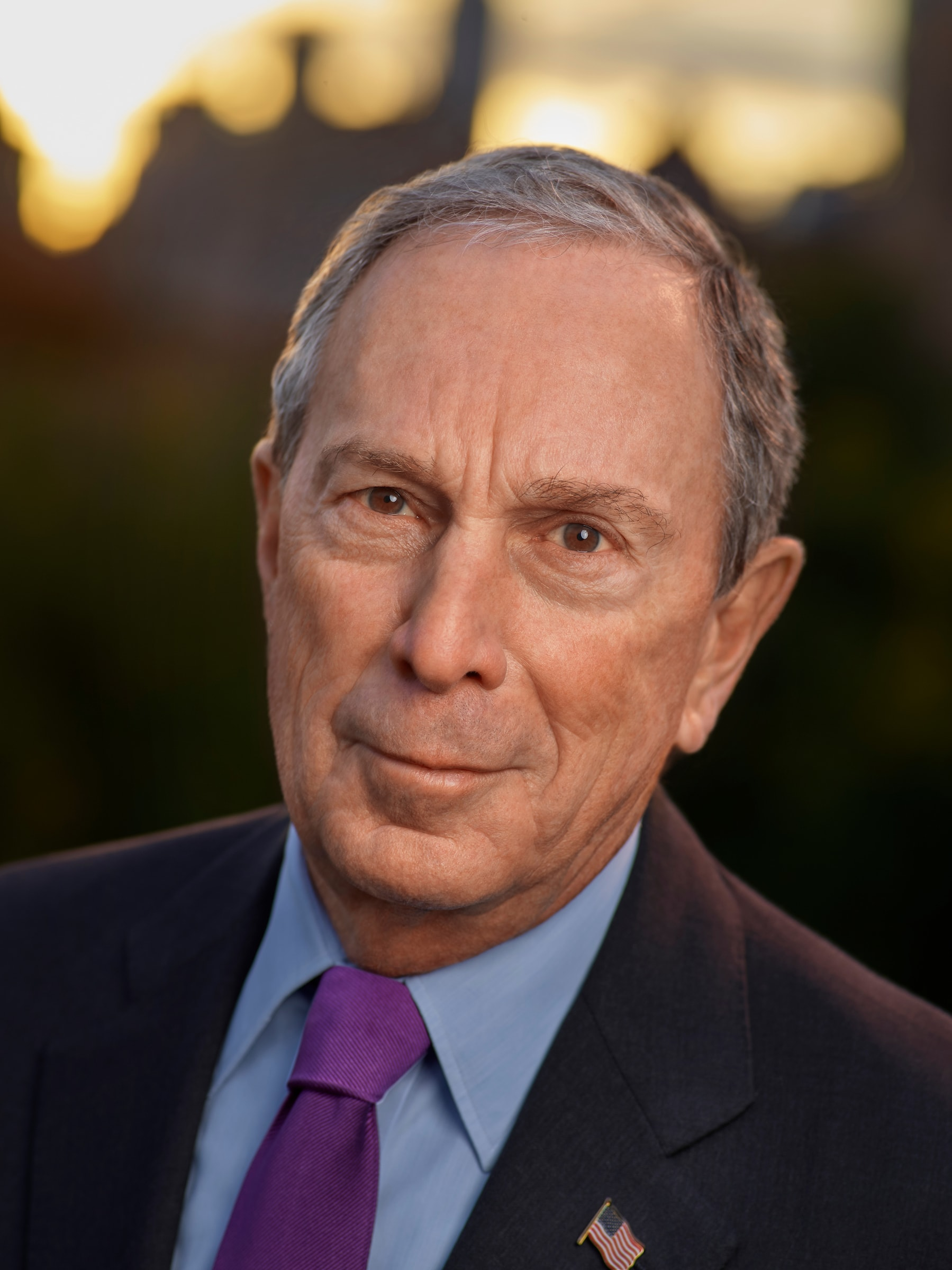 Michael R. Bloomberg, the entrepreneur, philanthropist, former New York City mayor, and chairman of the 9/11 Memorial & Museum, smiles for a portrait photo.
