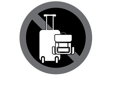 This black and white graphic depicts luggage.