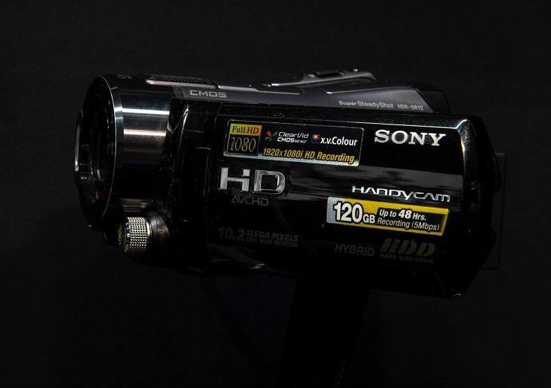 Palm-sized Sony handycam camcorder