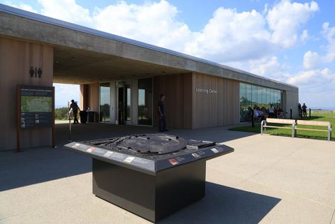 The Learning Center at the Flight 93 National Memorial in Shanksville, Pennsylvania, is seen on a partly sunny day.