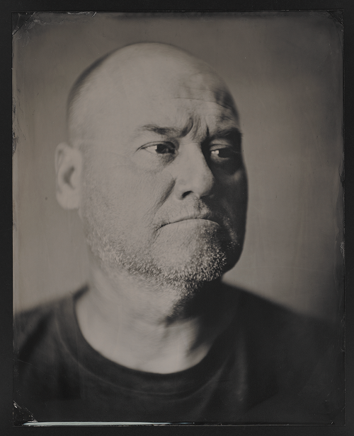 "A tintype, black and white photograph shows Mohawk ironworker Lindsay LeBorgne. The photo was part of the Museum exhibition, ""Skywalkers."""